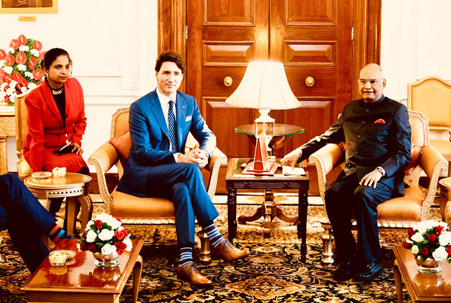 Provided interpretation during Canadian PM Mr Trudeau's State Visit to India.