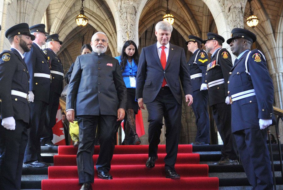 Provided interpretation services for Canada's PM Mr. Stephen Harper during Indian PM Mr Modi's State Visit to Canada.