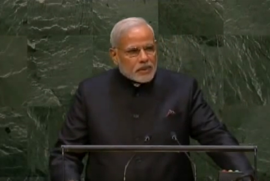 Interpretation of the speech provided by Dr. Gurdeep Chawla - PM Modi addresses the United Nations General Assembly, in New York