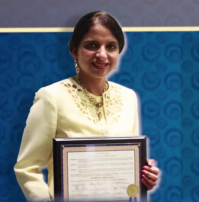 Commendation to Gurdeep Kaur Chawla's services