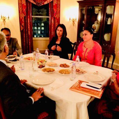 Gurdeep Chawla's interpretation services at a meeting with Congresswoman Tulsi Gabbard in New York