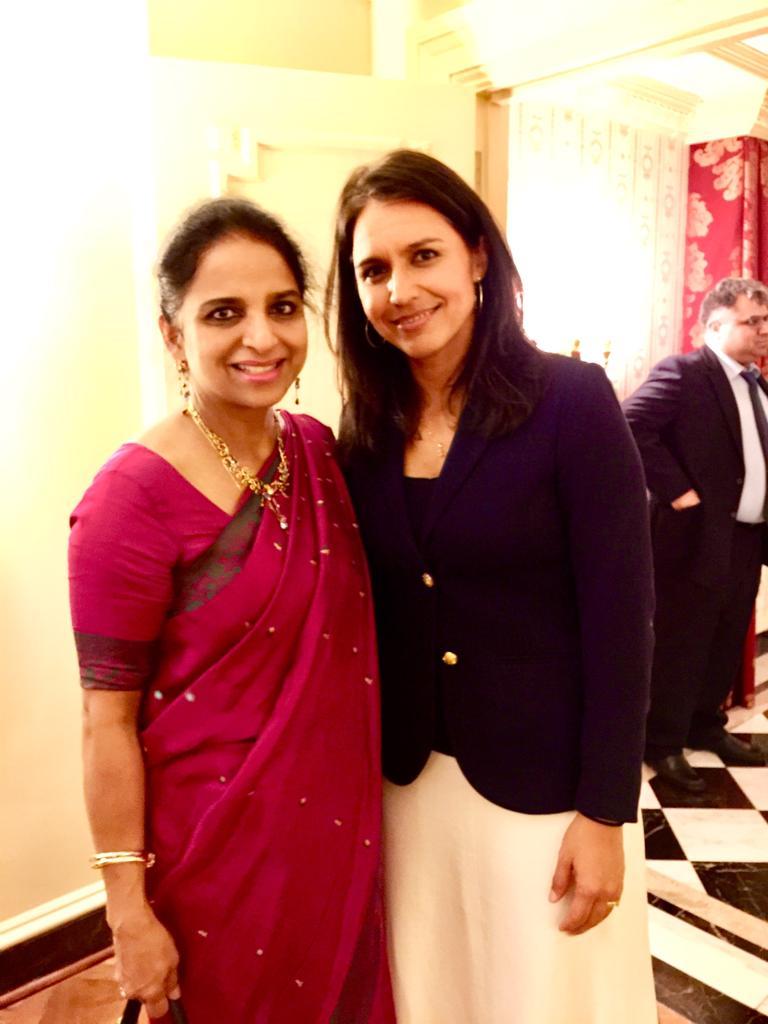 With US Congress woman Tulsi Gabbard