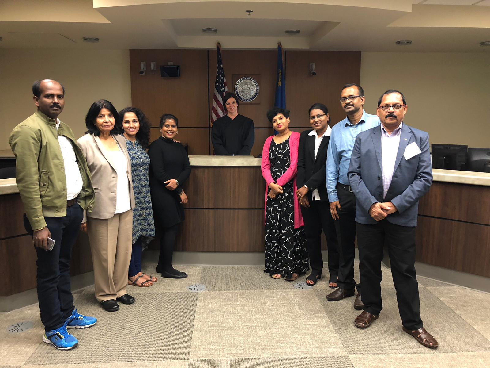 Our Hindi interpreters with international visitors in Concord on IVLP Project for