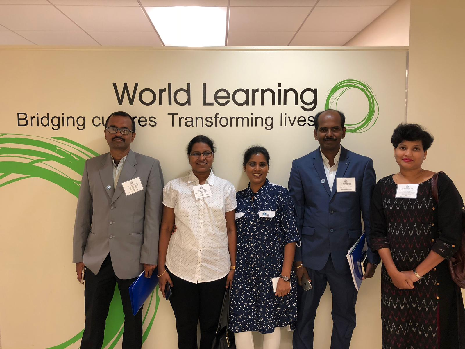 International Visitors at client site World Learning in Washington DC on a three week trip for 'Gender Violence' for which our interpreters accompanied them and provided interpretation in 4 different States in US.
