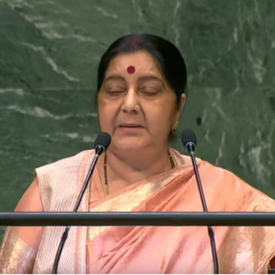 India - Minister of External Affairs Addresses General Debate, 73rd Session